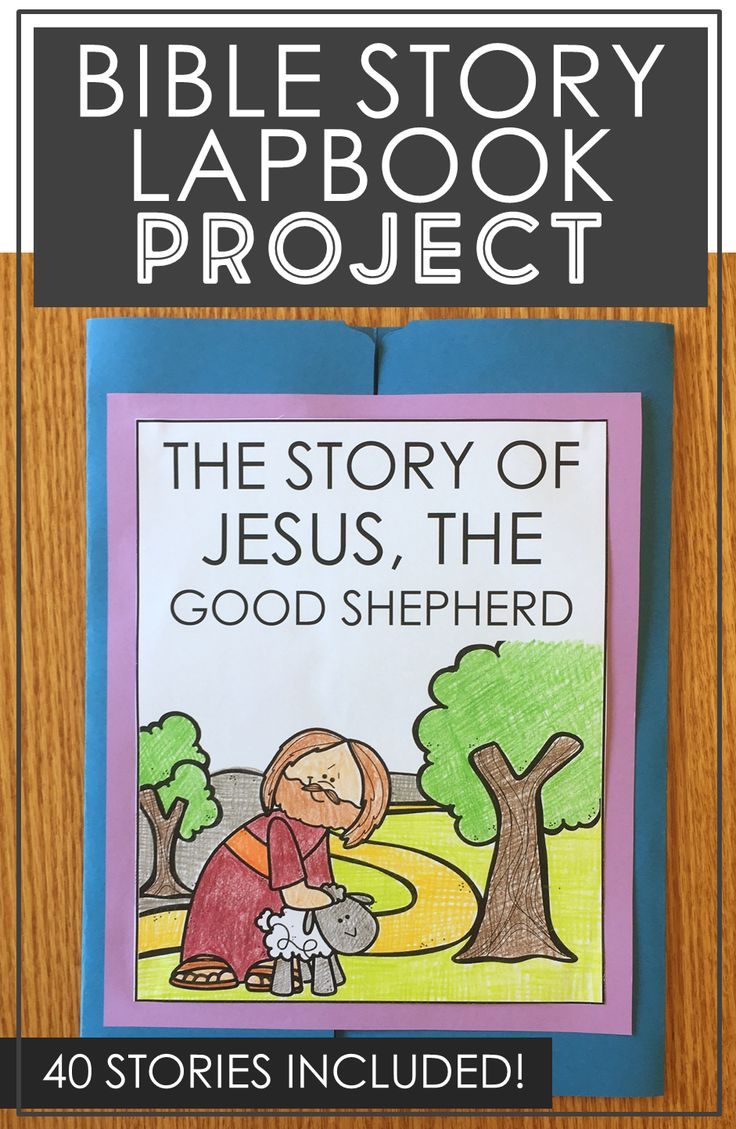 Bible story lapbook project interactive notebook