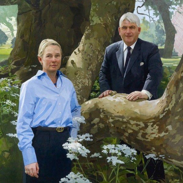 Paul Brason – Bernard and Sarah Taylor. Oil. 122 x 152 cm.