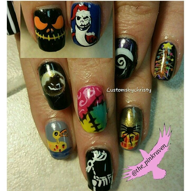 Hand Painted Christmas Nail Art: 820 Best Images About Halloween Nails On Pinterest