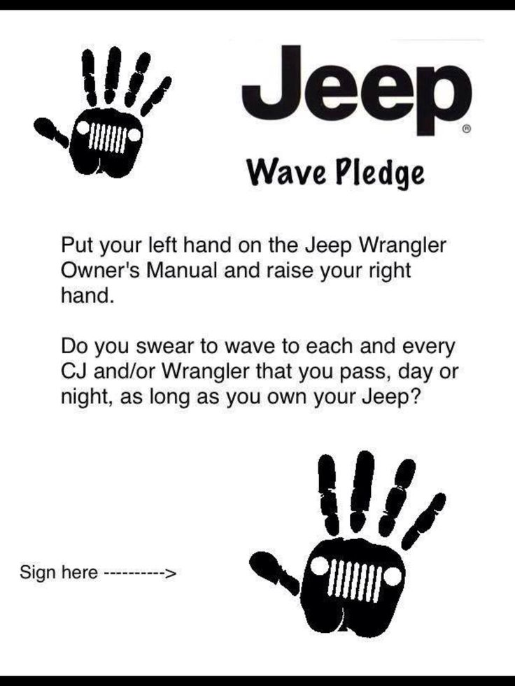 Jeep wave pledge