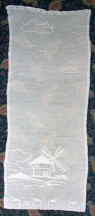 """CURTAIN CROCHET  54X135 CM - """"$165""""  MADE IN ITALY"""