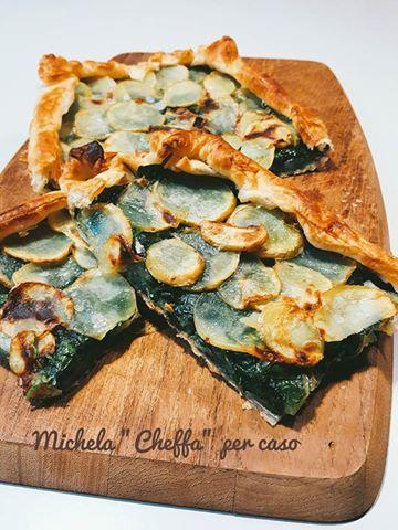 Torta+salata+patate+e+spinacino+fresco....+semplicissima!
