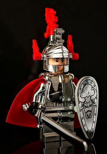 (Photo courtesy of Vanjey Lego) -- This Silver Red Knight Custom Minifigure is one for the LEGO purists, and looks totally awesome. Inspired by the LEGO Castle theme, this minifigure is made from official chrome LEGO pieces.