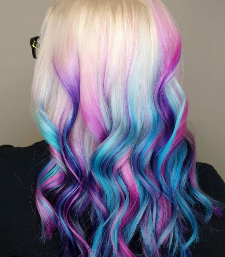 Colorful dip dye hair