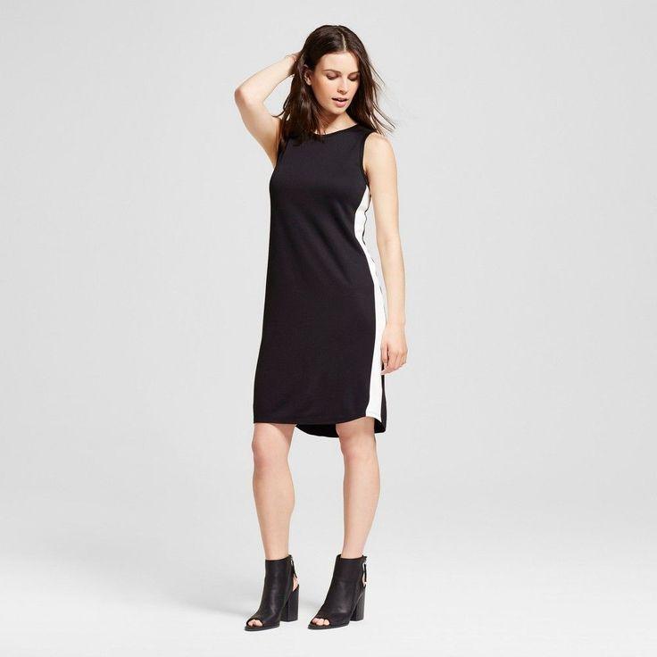 Women's Sporty Dress with Side Stripe Black with White Stripe S - Mossimo
