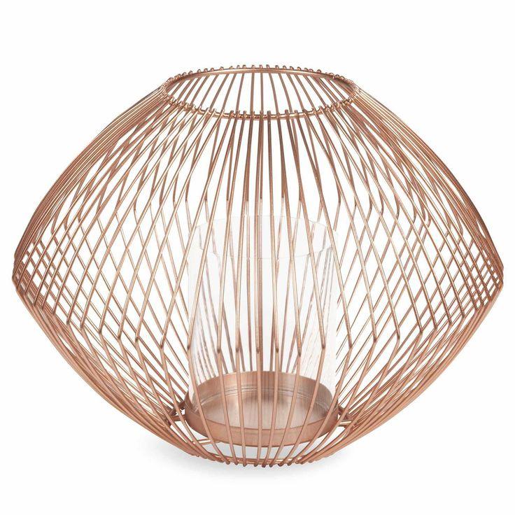 16,99 €  Lanterne en métal H 16 cm LULEA COPPER La lanterne Copper apportera une touche de chaleur à votre maison
