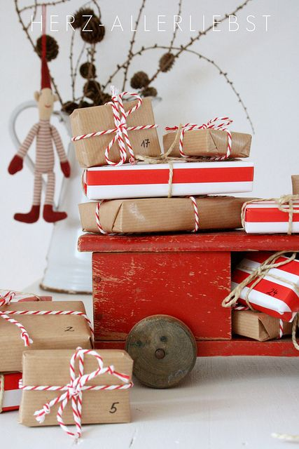 Christmas wrapping ideas So cute!: