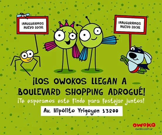 Los Owokos llegan a Boulevard Shopping Adrogué ¡Te esperamos!