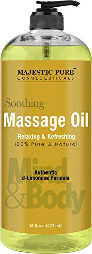 Relaxing Massage Oil from Majestic Pure 16 fl oz  100 Natural Message Therapy Formula Using Grapeseed Oil and Potent Massage Essential Oils * Check out this great product.