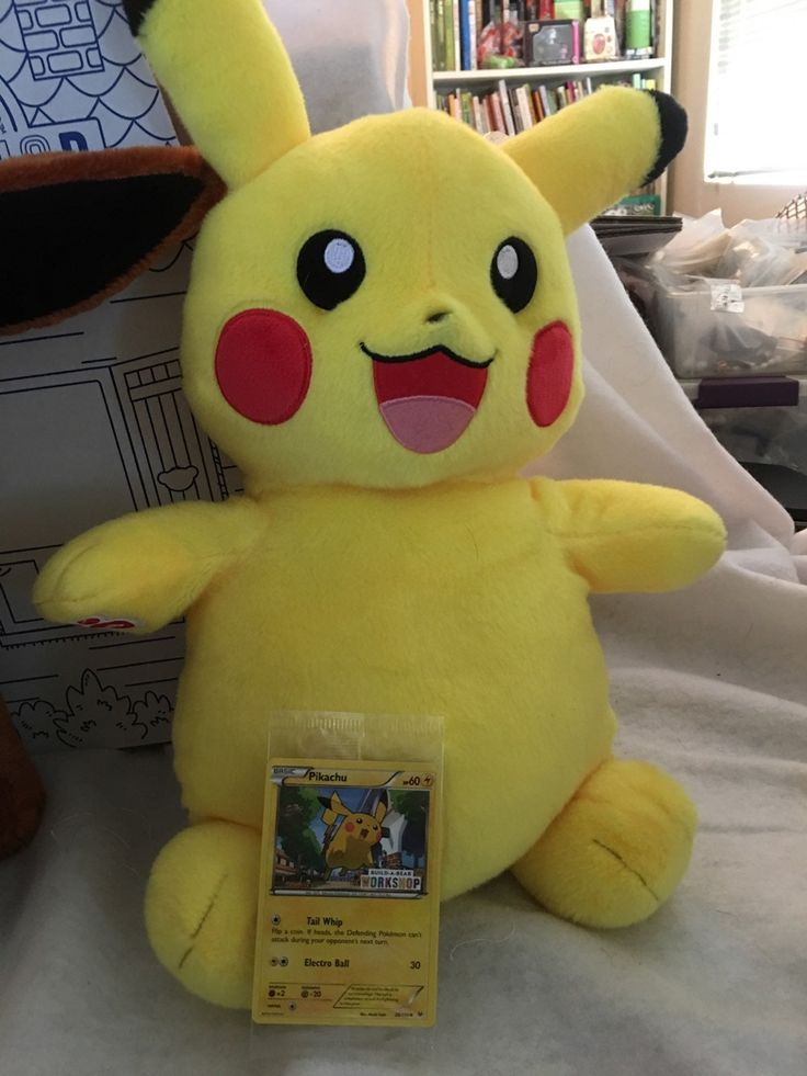 Build a bear pikachu plush brand new with tag but tag was