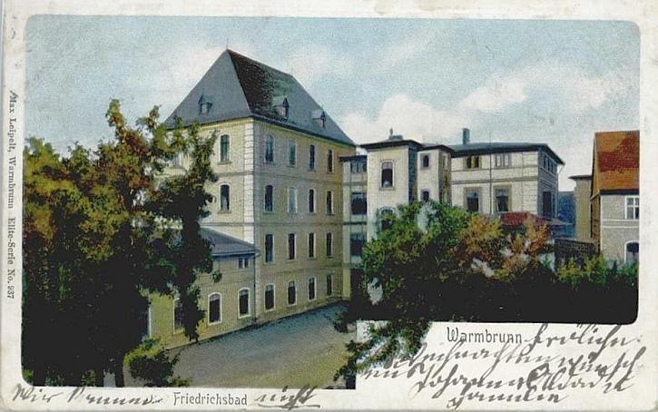 Dom Zdrojowy, wtedy Friedrichsbad - Cieplice.