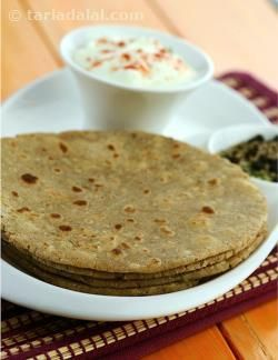 Wheat flour is combined with aromatic spices to make these delicious rotis. The whole spices used for this roti are roasted and coarsely ground to enhance the individual flavour of each and every spice used.  These rotis are so delectable that they can be eaten on their own or with a sweet and sour tomato pickle.