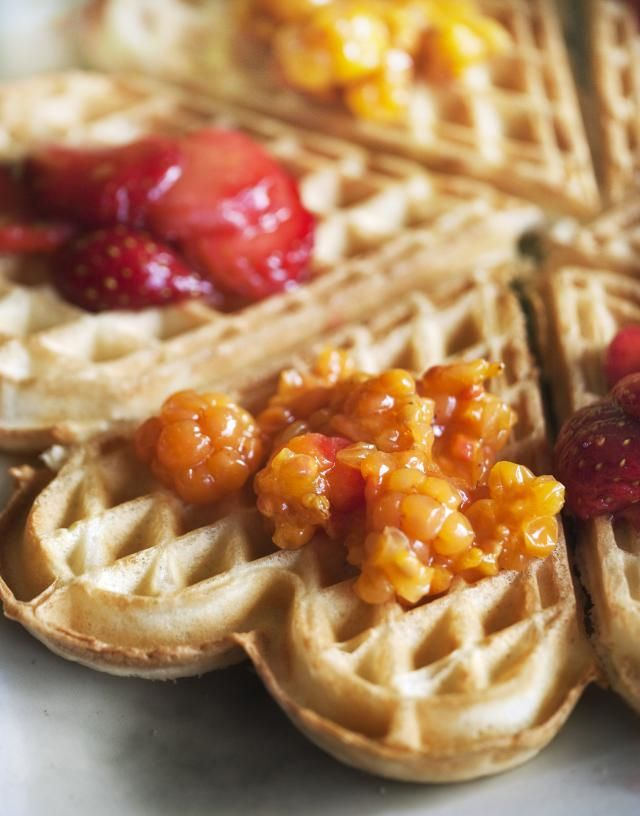 Quick Scandinavian waffle recipe- tone down the cardamon a little, nice flavour, texture a bit ordinary.