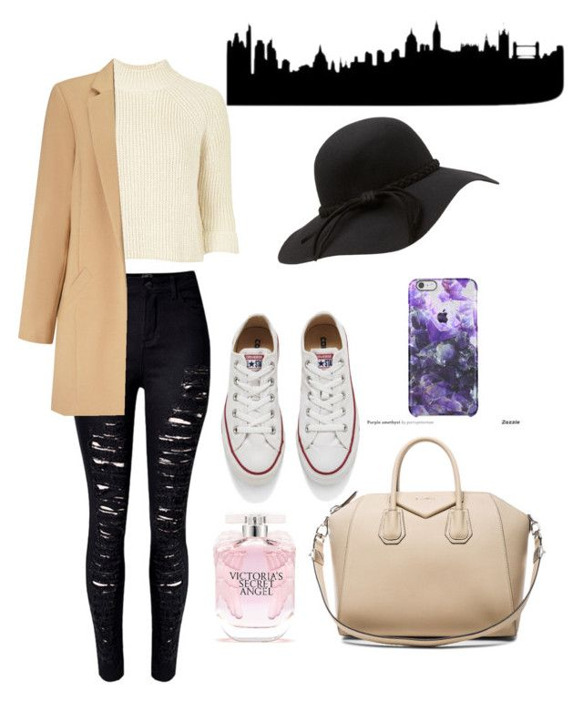 """""""Om my way to London"""" by anicute on Polyvore featuring Topshop, Converse, Givenchy, Victoria's Secret, Miss Selfridge, women's clothing, women, female, woman and misses"""