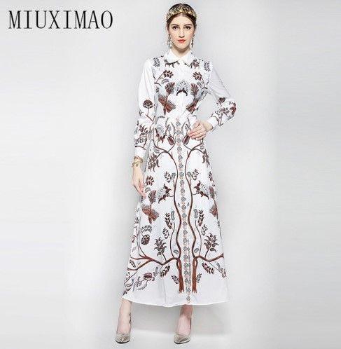 Dress in vintage style with print - tree | Платье в винтажном стиле с принтом - дерево