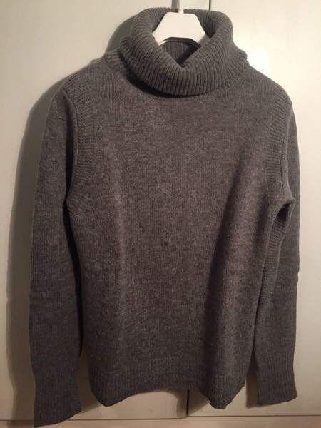 Maglione lana collo alto