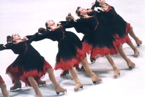 MIU, A photo collection of Synchronized Skating Dresses to use for inspiration Sk8 Gr8 Designs.
