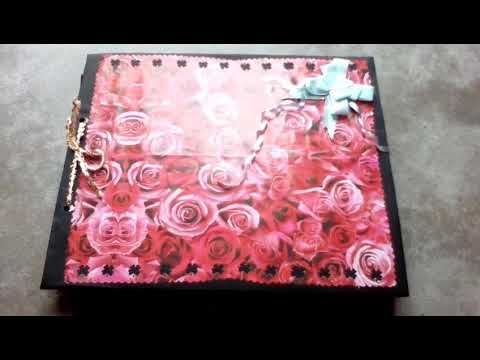 Anniversary & velentine day scrapbook for husband and special friend the best velentine Day gift - YouTube