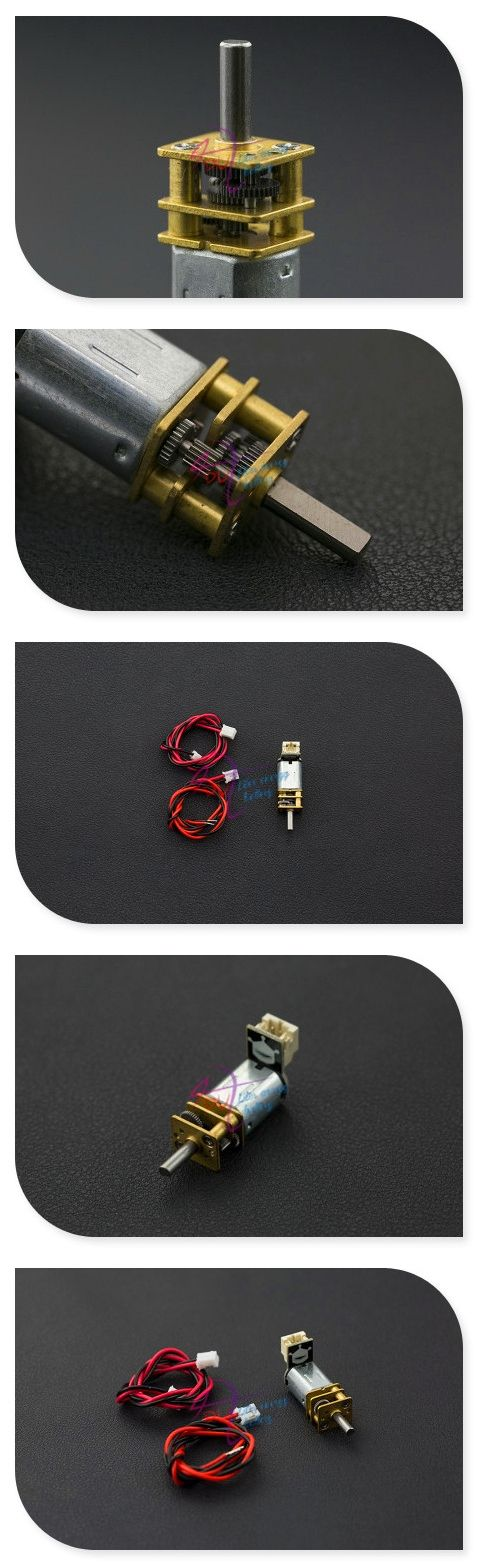 DFRobot 100% Genuine 6V 220RPM Micro Metal Gear(75:1) Motor with Connector, 1~6V 0.8kg Compatible with 2WD MiniQ Robot Chassis