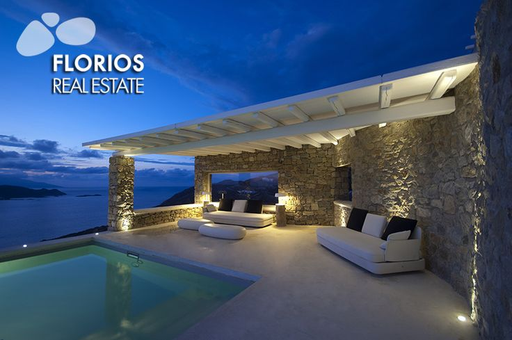 The magnificent sunset of this amazing Villa for Sale on Mykonos island Greece will take your breath away! Extraordinary sea view, in Ftelia. FL1467 http://www.florios.gr/en/mykonos-property/24.html