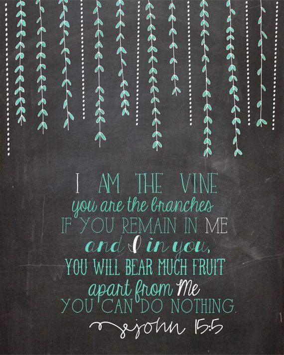 John 15:5 Scripture Printable