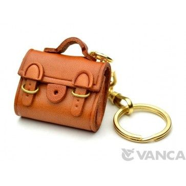 GENUINE 3D LEATHER BUCKLES BAG KEYCHAIN MADE BY SKILLFUL CRAFTSMEN OF VANCA CRAFT IN JAPAN. #handmade #keyfob #gift #unique #art #design #cute #goods