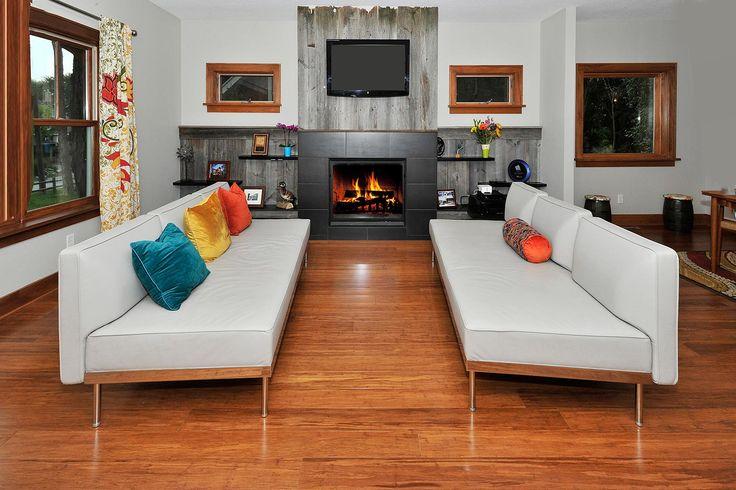Casco Point living room-barnwood fireplace