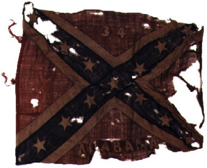 Battle Flag of the 34th Alabama.