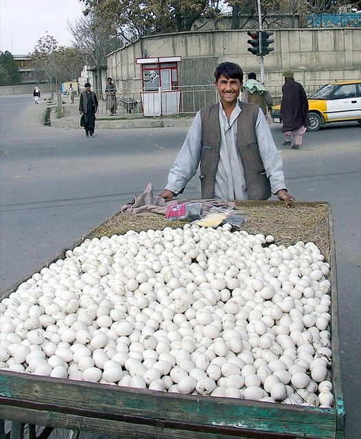 """""""The Egg Man"""" - selling eggs in Kabul, Afghanistan by Michael Foley"""
