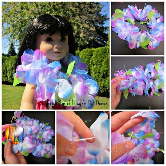 Doll Craft � Flower Leis for Dolls