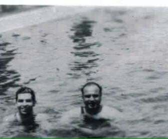 Keep standing on him Al, they think we're posing for a picture  lucky Luciano Al Capone pool party Costello was also present that day!