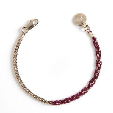 Bracelet Little Billie (bordeaux, vert d'eau ou rose poudré), Mademoiselle Pierre 55€