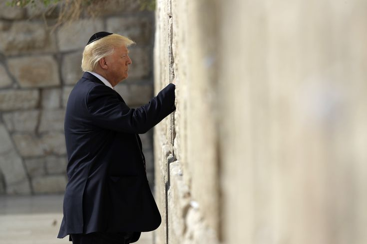 President Trump on Monday became the first sitting U.S. president to pray at the Western Wall in Jerusalem, one of the holiest sites in Judaism.