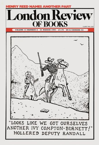London Review of Books. 21 March 1991. Cover: Glen Baxter.