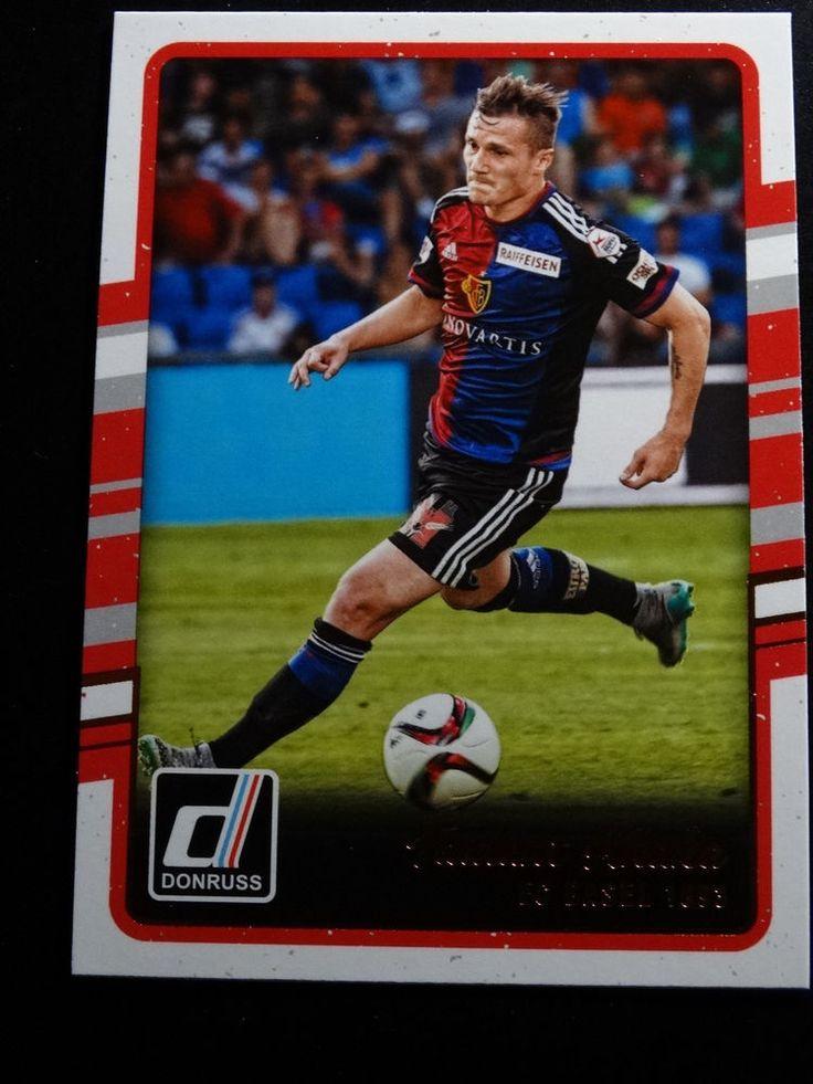 2016-17 Donruss Soccer #76 Taulant Xhaka FC Basel 1893 Card  #FCBasel1893