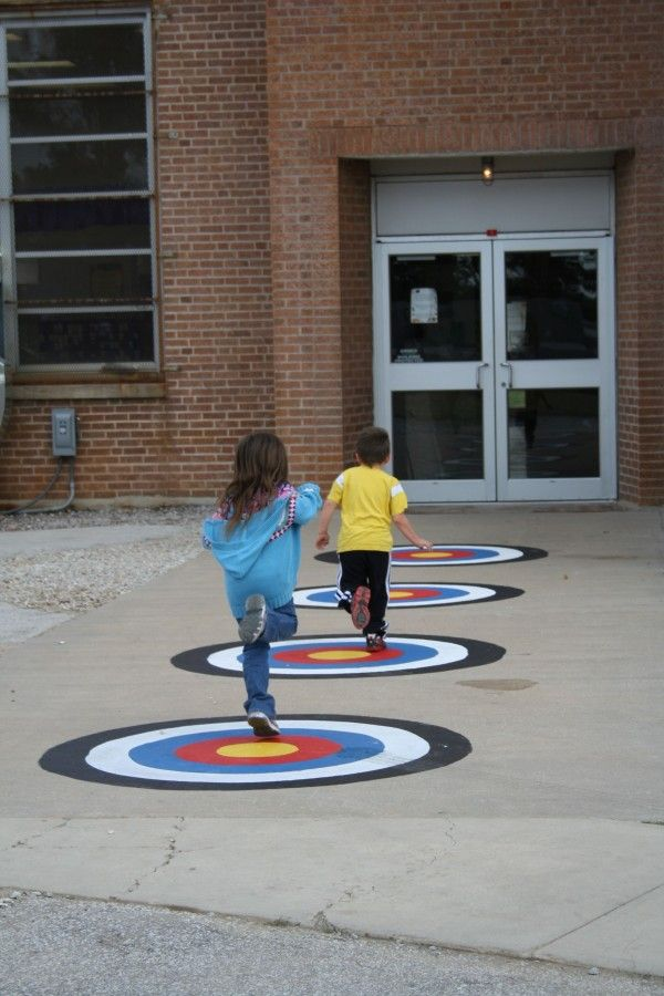 school playground target games by Peaceful Playgrounds