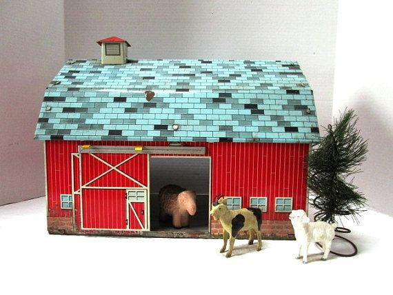 12 Best Vintage Tin Toy Barns Images On Pinterest