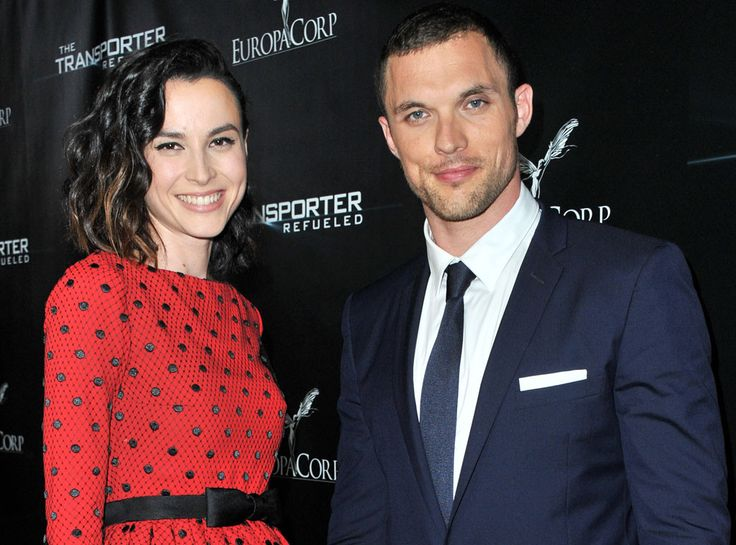 Loan Chabanol & Ed Skrein from Movie Premieres: Red Carpets and Parties!  Hot co-stars alert! The Brit actor and French model-turned-actress stun the The Transporter Refueled screening and after party at the Playboy Mansion in L.A.