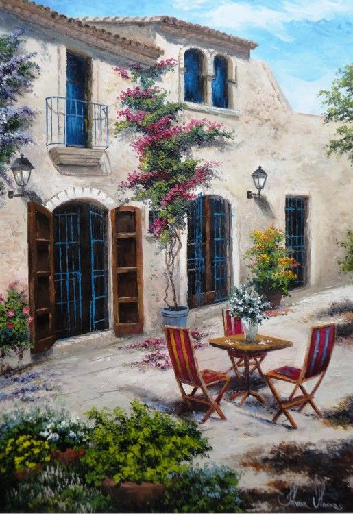 Romantic Mediterranean~ Outside On The Patio ~  (Silvana Oliveira)