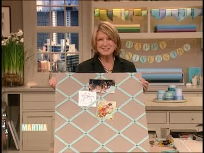 Good Thing: Ribbon Bulletin Board Videos | Crafts How to's and ideas | Martha Stewart
