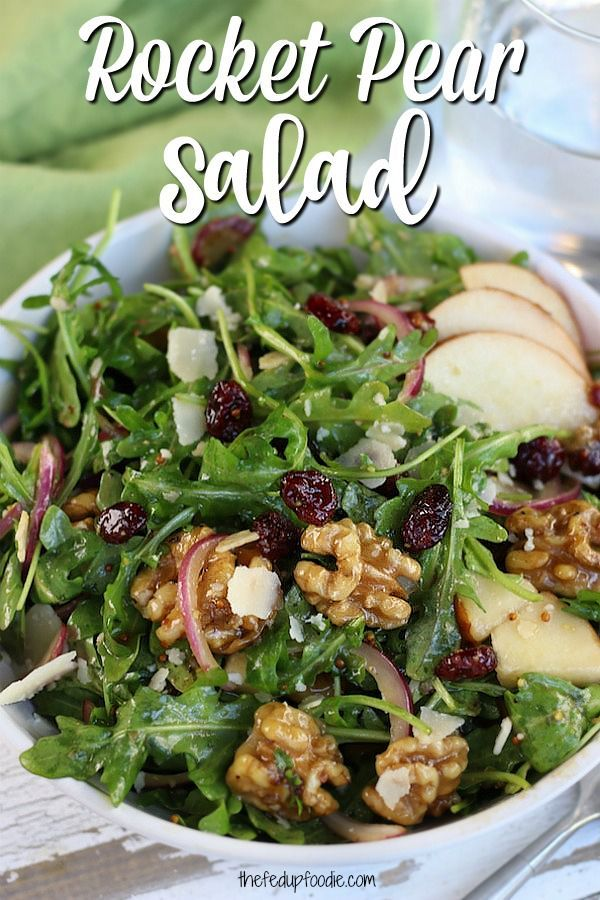 Savory and sweet, this Rocket Pear Salad is a simple and healthy recipe. Perfect… – recipes
