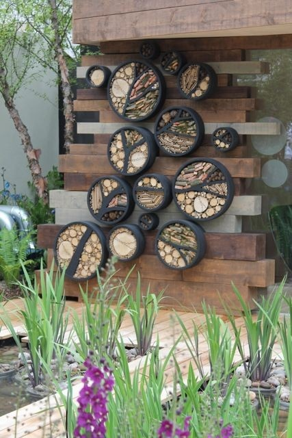 Professor Nigel Dunnett Garden at RHS Chelsea 2013 - wildlife habitat in the garden -- if I had some interns, they'd be building one of these for me right now.
