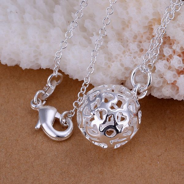 925 jewelry silver plated Jewelry Pendant Fine Fashion Cute  Small solid ball Necklace Pendants Top Quality CP174