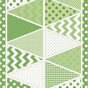 Guirlande fanions vert R. BLAKE