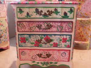 Second Hand Painted Funky Furniture | Listed Decor: Hand painted girls bedroom furniture - $400