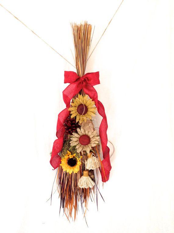 SALE Arpillera guirnalda de girasol por ThePetalHouse en Etsy