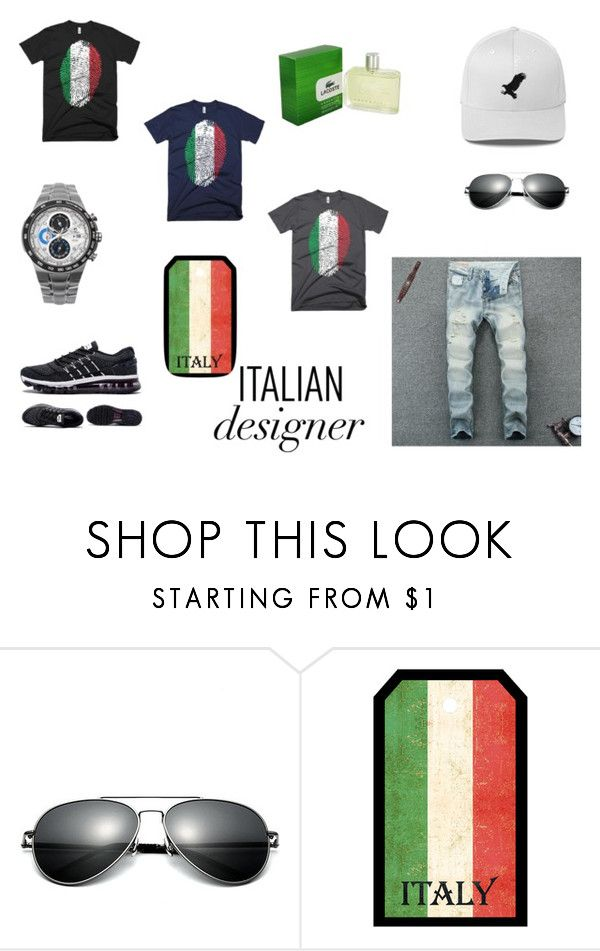 """""""TASTE OF ITALY"""" by kjselections ❤ liked on Polyvore featuring FingerPrint Jewellry, Lacoste, men's fashion, menswear, StreetStyle, MyStyle, outfitoftheday and ForMen"""