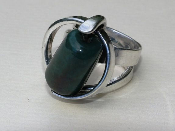Anna Greta Eker, Norway Silver Designs, PLUS, Fredrikstad. Ring i sterling sølv. Vintage