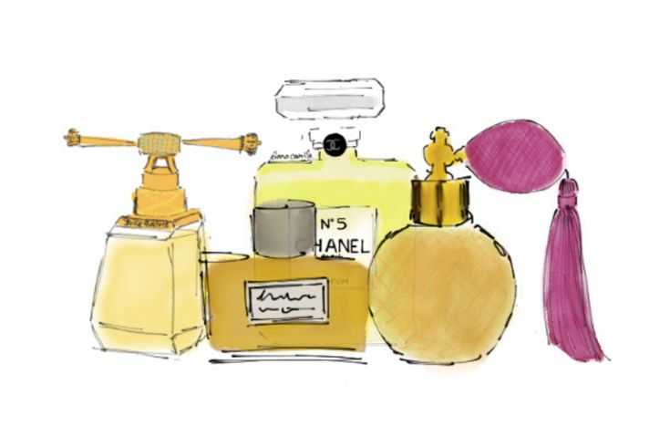 Blog: Favourite Perfumes   fashion illustration