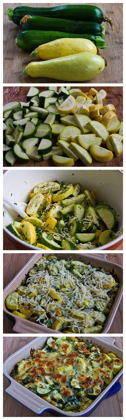 Recipe for Easy Cheesy Zucchini Bake (Low-Carb, Gluten-Free)